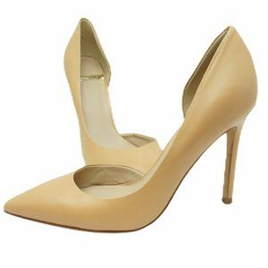 Marciano point toe nude pumps